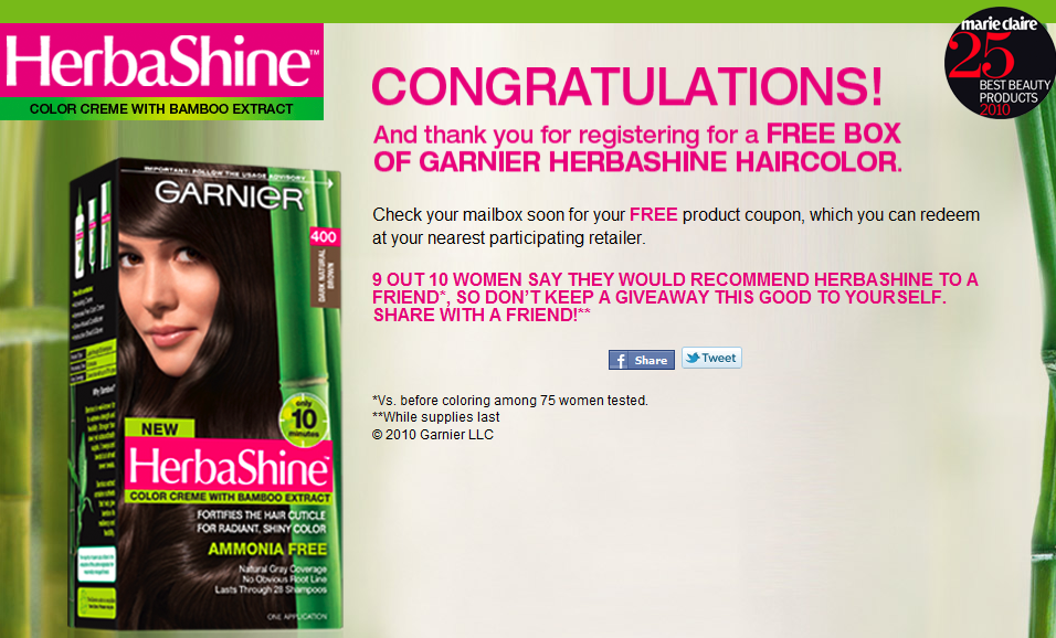 Free hair dye coupons by mail