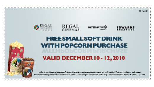 Regal cinema discount coupons