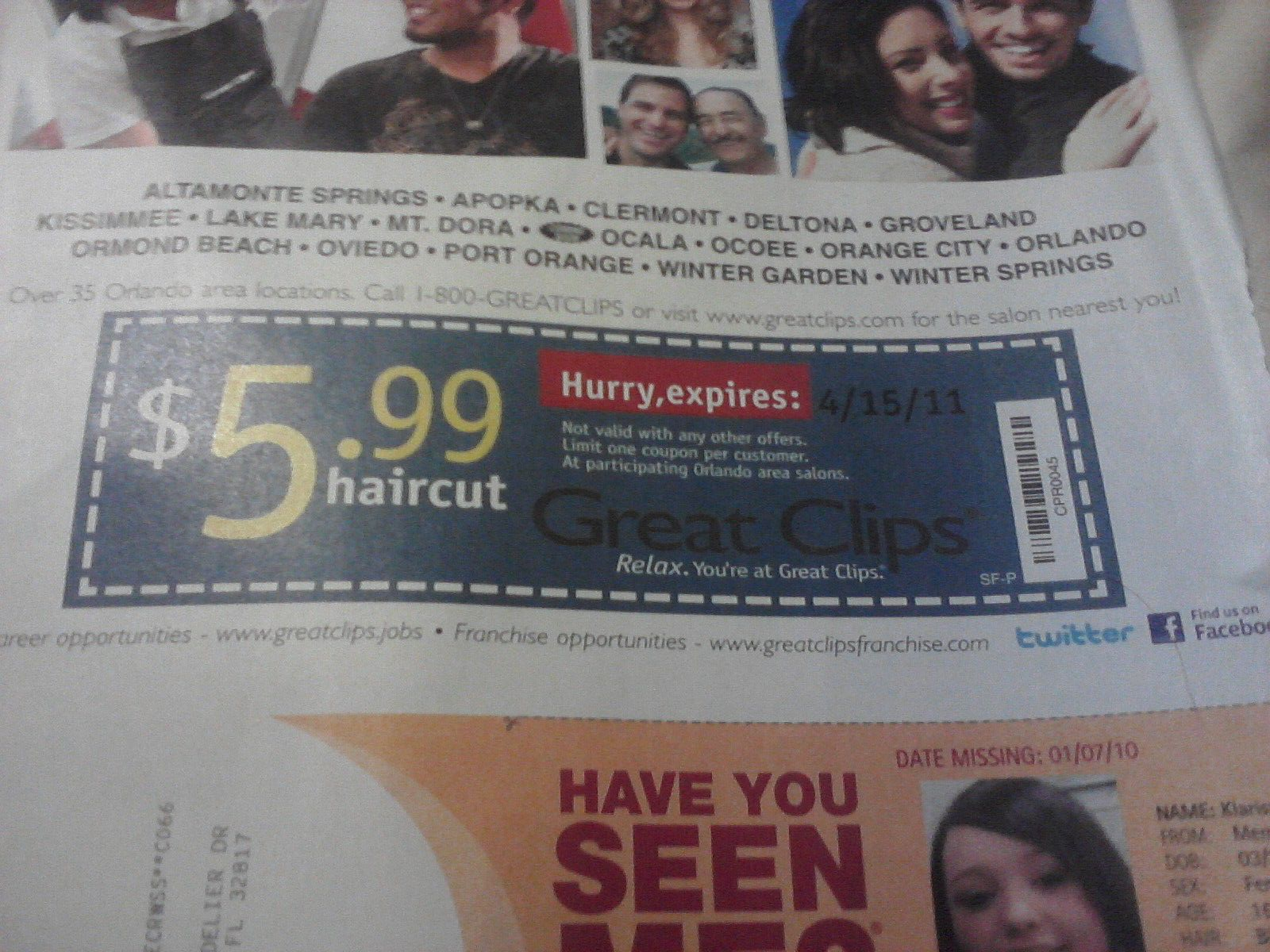 Haircut coupons orlando