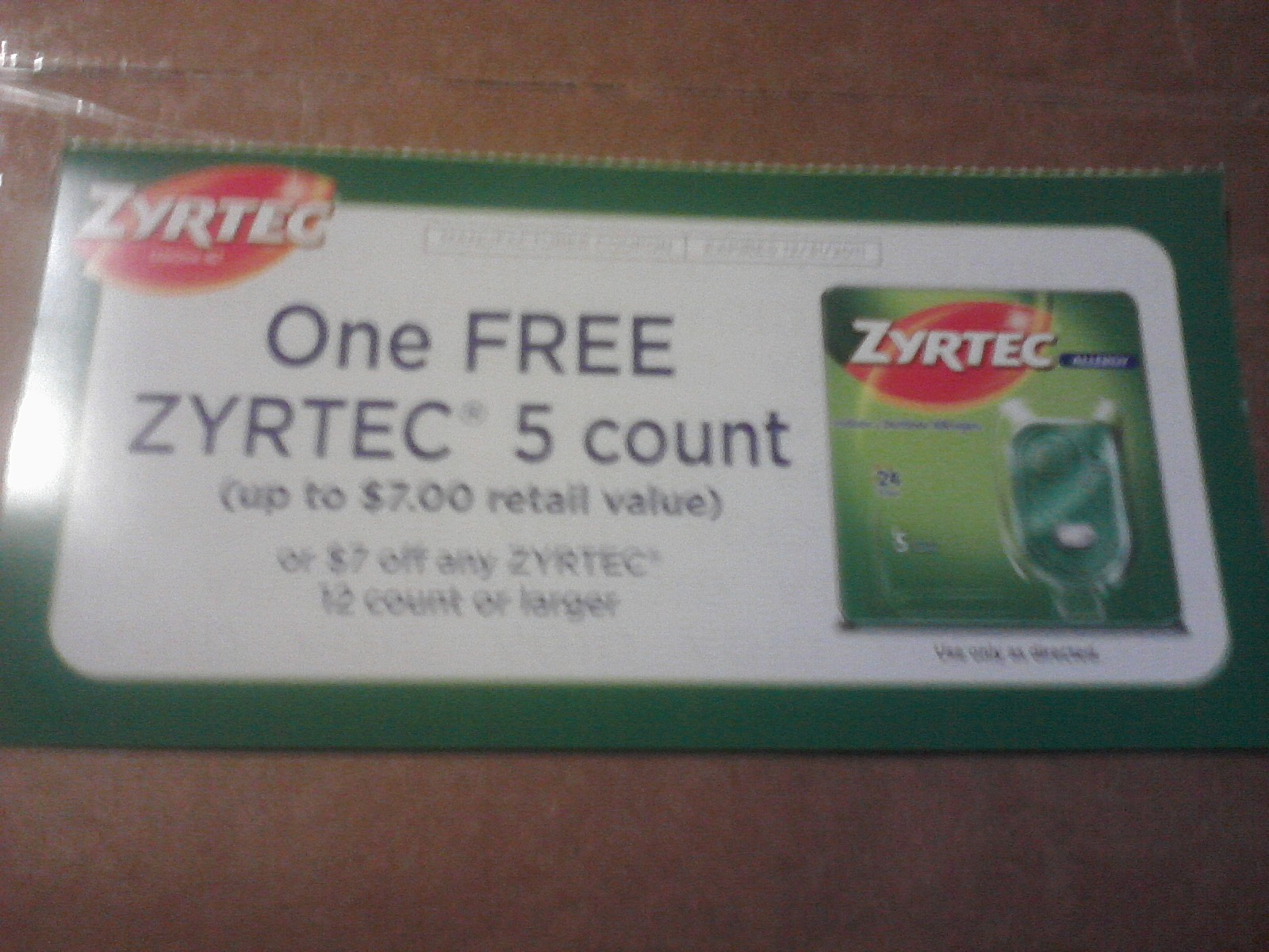 photograph about Zyrtec Printable Coupon known as Zyrtec d discount coupons printable - Beauty freebies united kingdom
