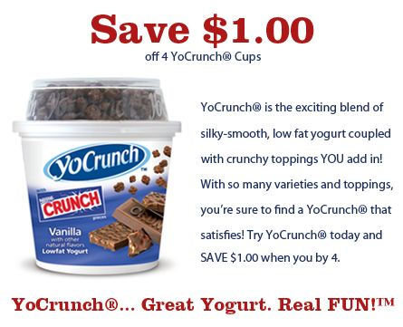 Yocrunch coupons