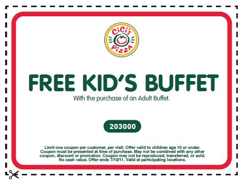Kids eat free coupons