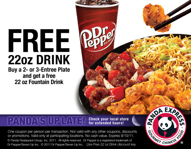 Panda express coupon code