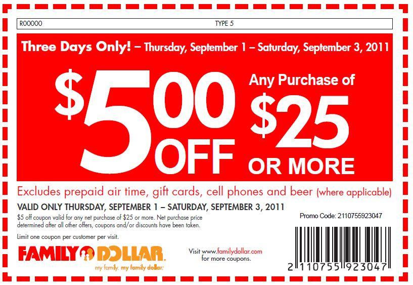 Dollar coupon code