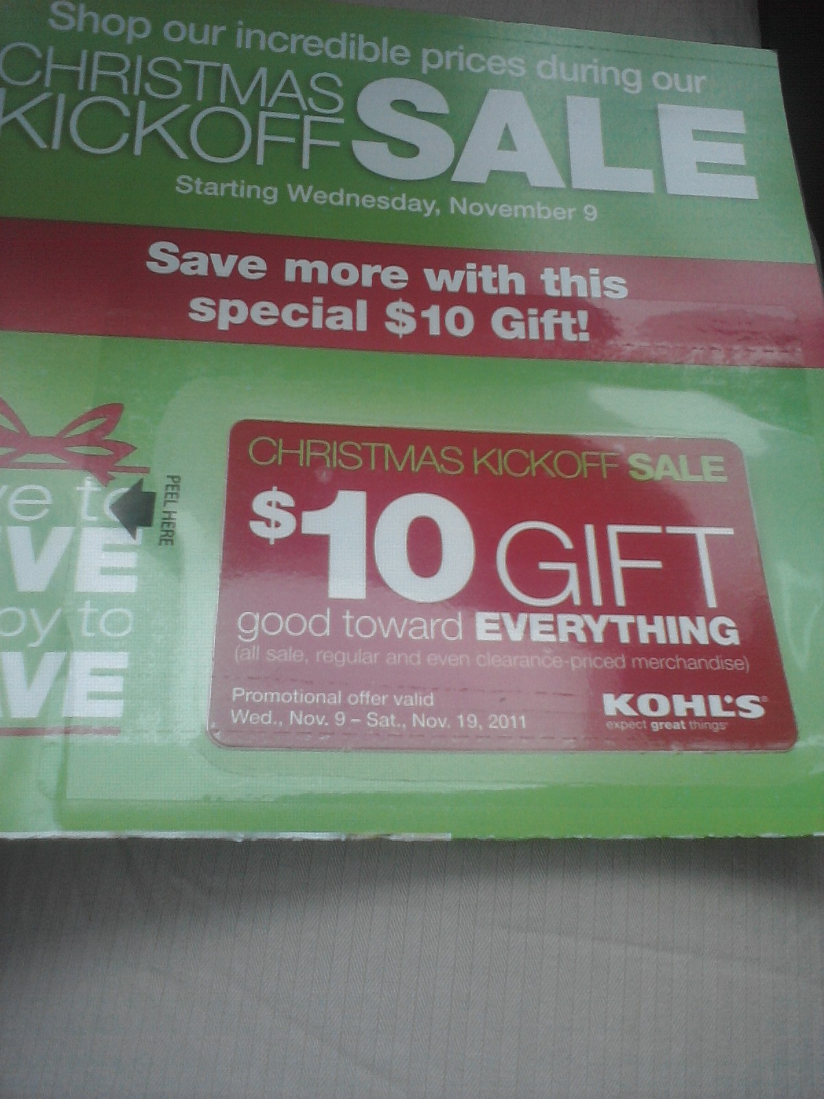 It is a picture of Adaptable Kohls 10 Off Coupons Printable