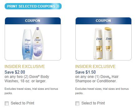 DOVE PRODUCTS PRINTABLE COUPONS