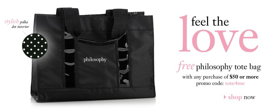 Spend 50 At Philosophy And Get A Free Tote Bag Use Code Tote4me Plus You Shipping When If Haven T Checked Out All The