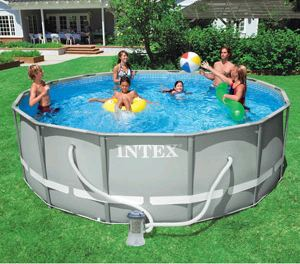 intex above ground pool throughout or walmart has the intex 14u2032 48u2033 ultra frame above ground pool on roll back for 22499 w free shipping reg 349 daily deals pools who said