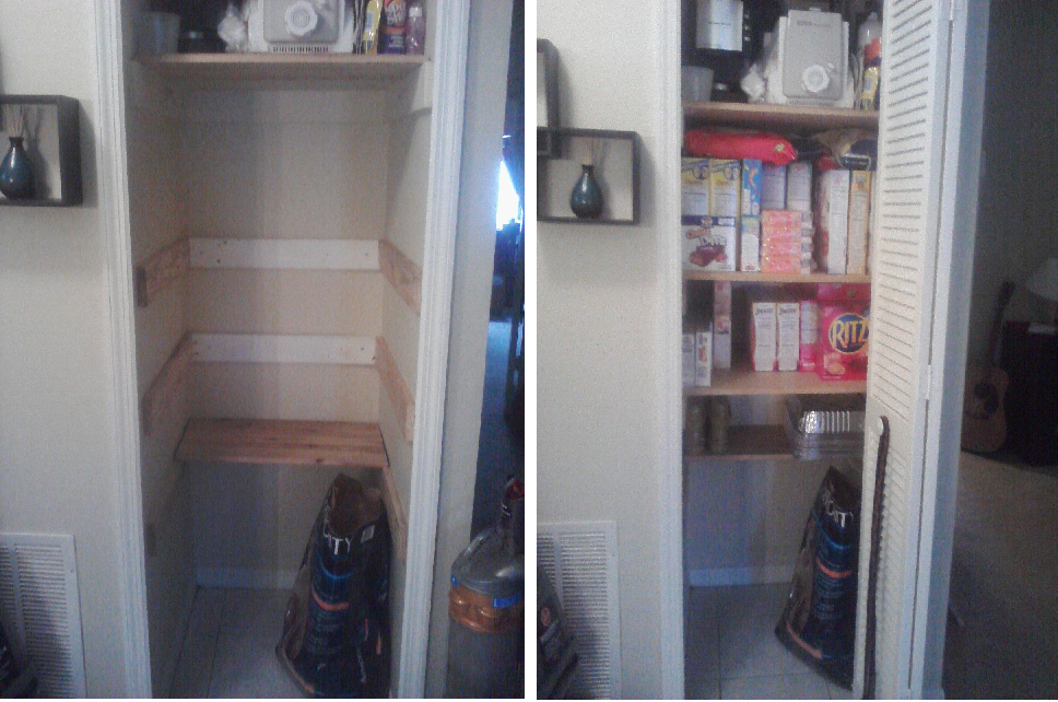 I Turned My Coat Closet Into A Pantry Who Said Nothing