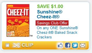 UPDATE: GONE! We have a new printable coupon for Kellogg's, Keebler or Sunshine Cheez-It products! Even better, you can use this on the small size items that are currently on sale at Walgreens.