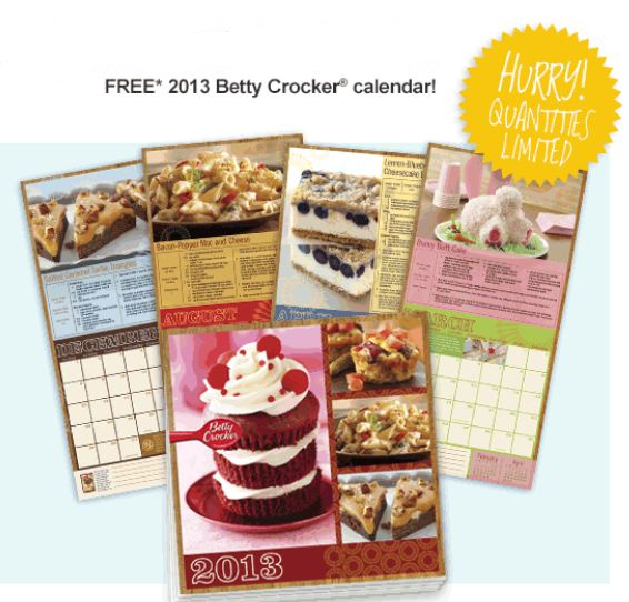 free betty crocker recipe calendar who said nothing in is free