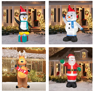 walmarts value of the day is your choice of 2 christamas inflatable for only 59 w free shipping that makes each one only 2950 - Walmart Inflatable Christmas Decorations