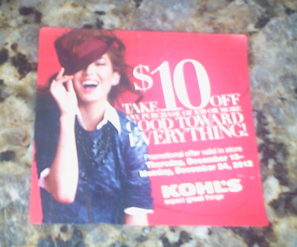 This is a graphic of Mesmerizing Kohls 10 Off Coupons Printable