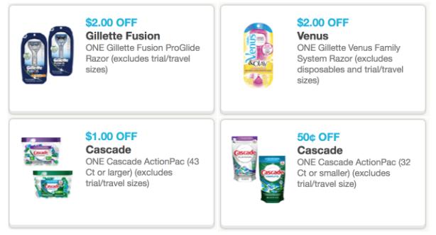 Gillette venus razor coupons