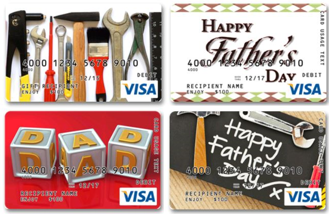 Get Dad a Personalized Prepaid VISA Gift Cards from GiftCard.com ...