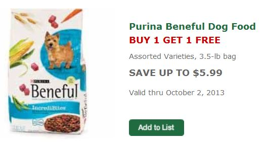 beneful dog food coupons printable
