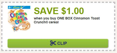Cinnamon toast crunch cereal coupon 2018