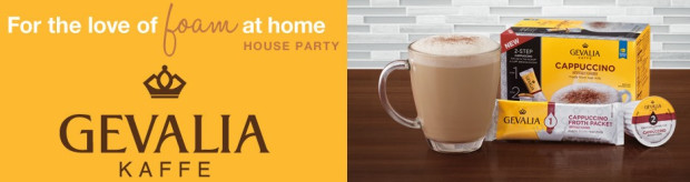 Host A Gevalia For The Love Of Foam At Home House Party