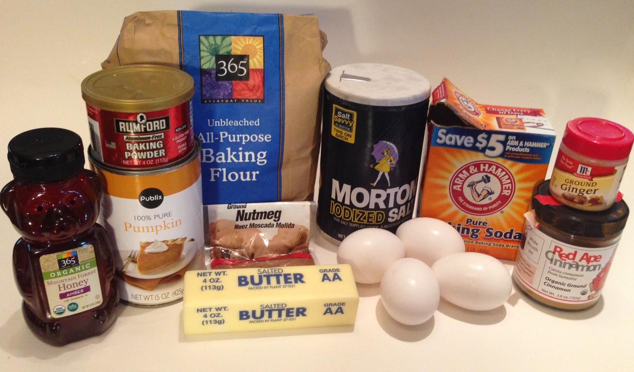 pumpkin-honey-bread-ingredients