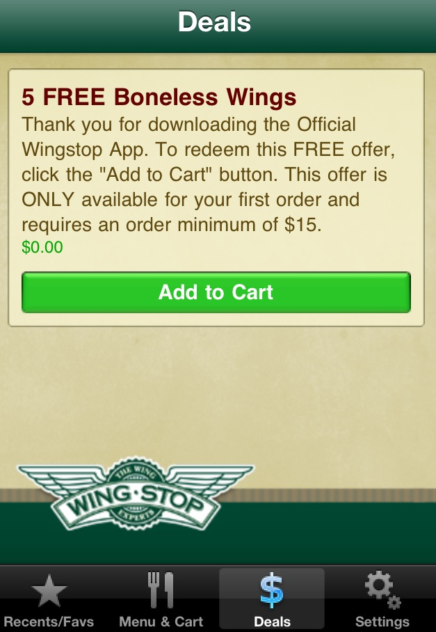 It's just a graphic of Crafty Wingstop Coupons Printable