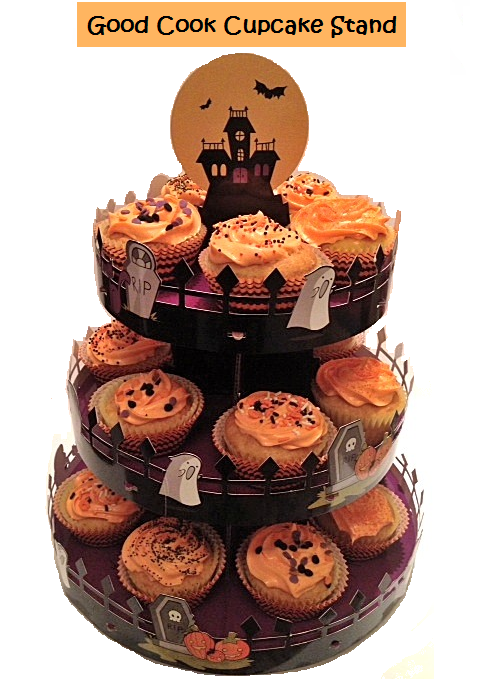 good cook sweet creations halloween cupcake liners and stand - Halloween Cupcake Holder