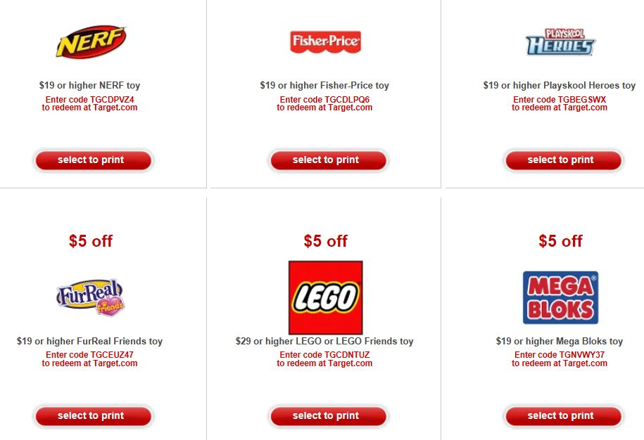 printable coupons for legos at target