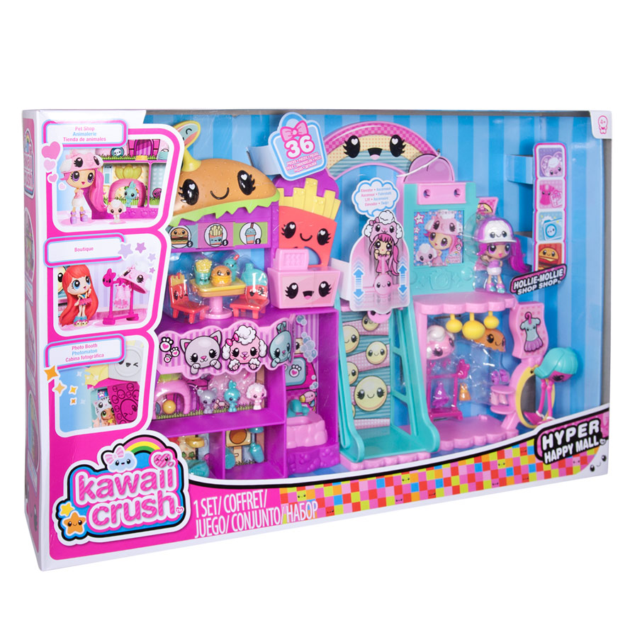 Kawaii crush hyper happy mall by spinmaster toys who for Happy playsets