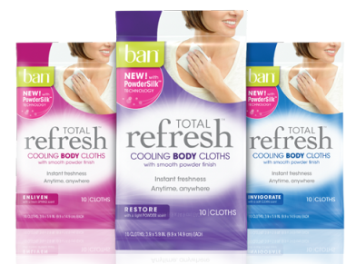 FREE Sample of Ban Total Refresh Cooling Cloths