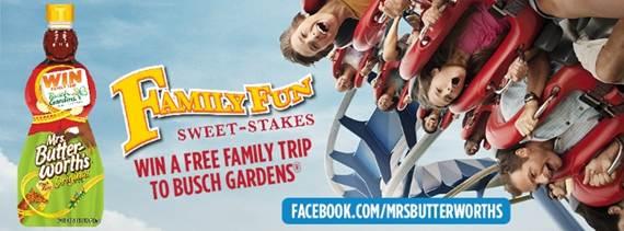Mrs butterworth 39 s sweet stakes reader prize pack - Busch gardens discount tickets publix ...