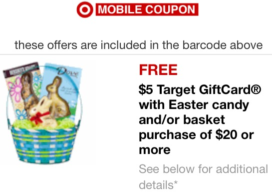 5 target gift card w a 20 easter candy andor basket purchase target easter mobile negle Choice Image