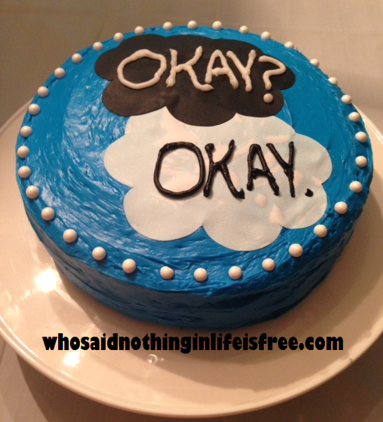 Fault in Our Stars Cake