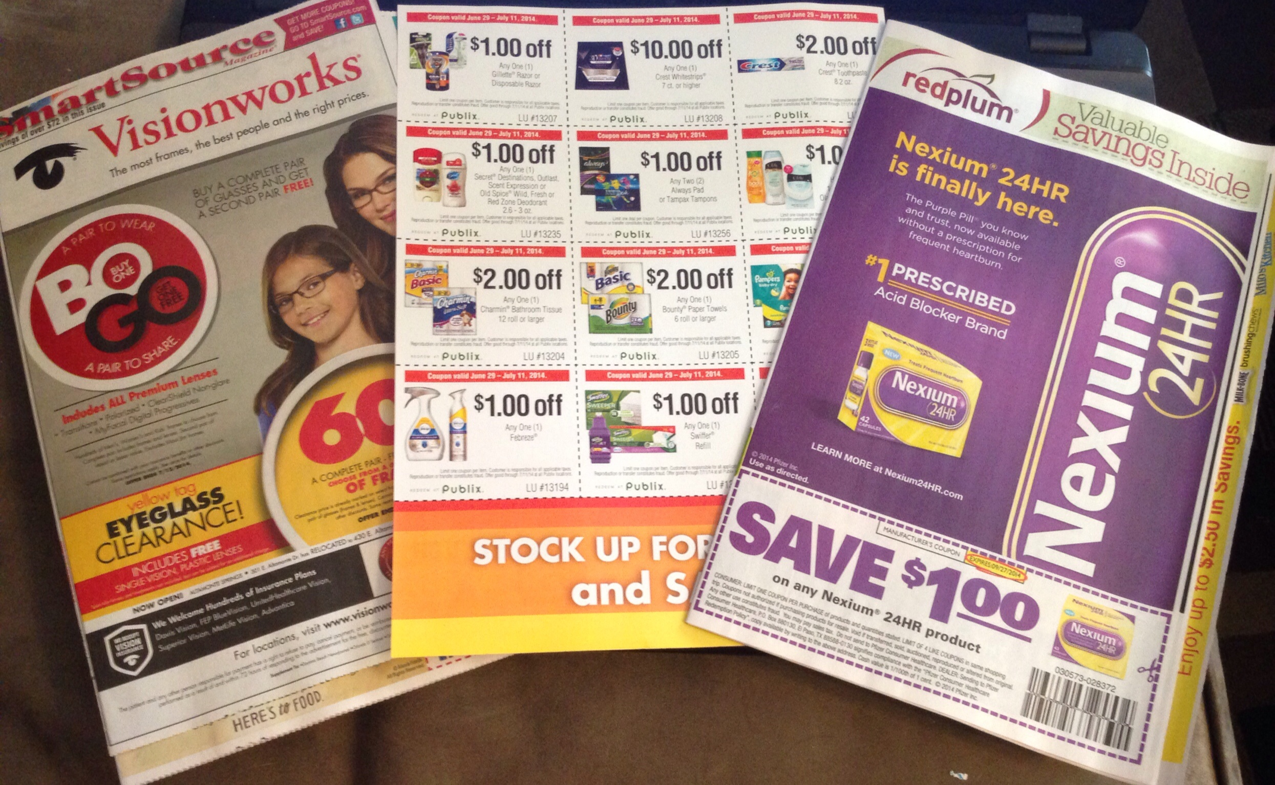Coupon inserts today's paper