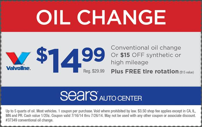 Oil Change Coupons Near Me >> Sears Summer Road Trip Oil Change Coupon Sweepstakes Who Said