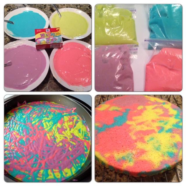 Dye Cake Bring a Cool Tie Dye Cake