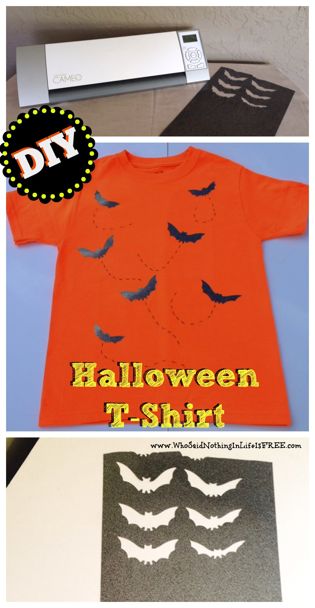 Easy Diy Halloween T Shirt Using A Silhouette Cameo Who