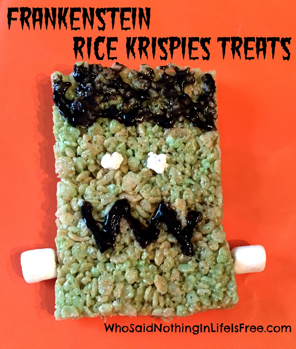 frankenstein rice krispies treats