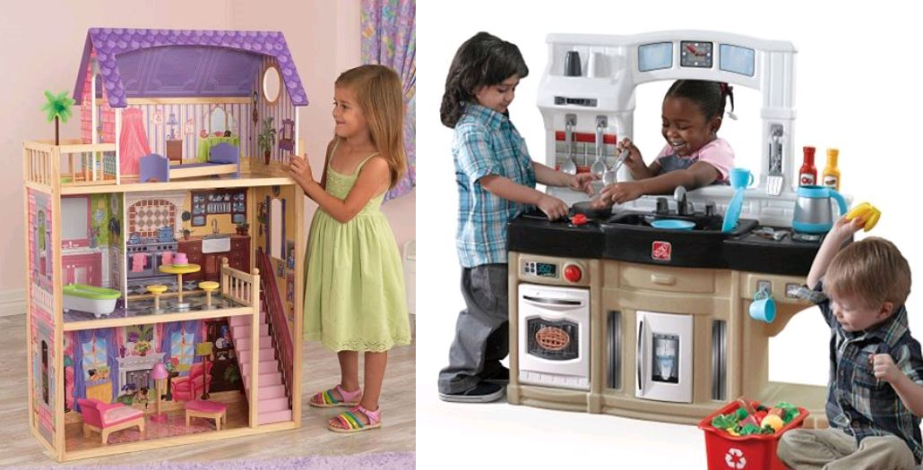 great deal on kidkraft dollhouse and step2 play kitchen at kohls