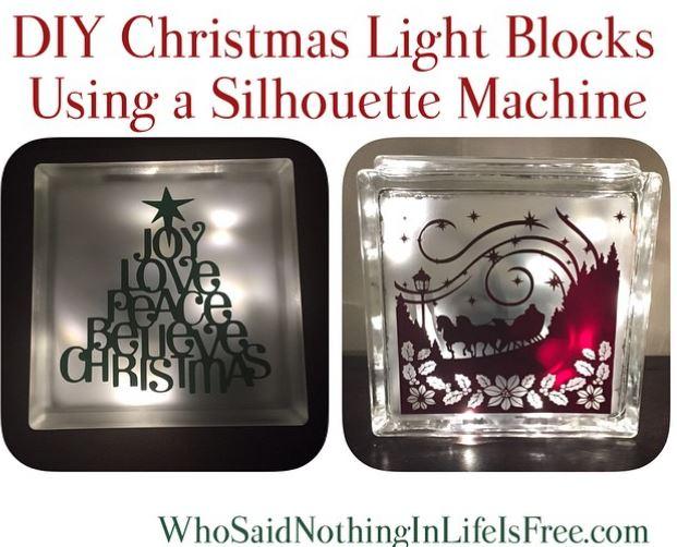 diy christmas light blocks