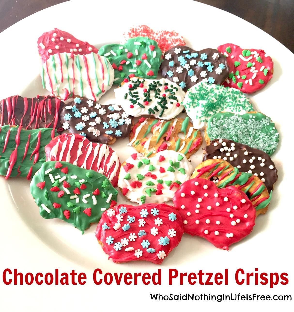 holiday pretzel crisps - Christmas Chocolate Covered Pretzels