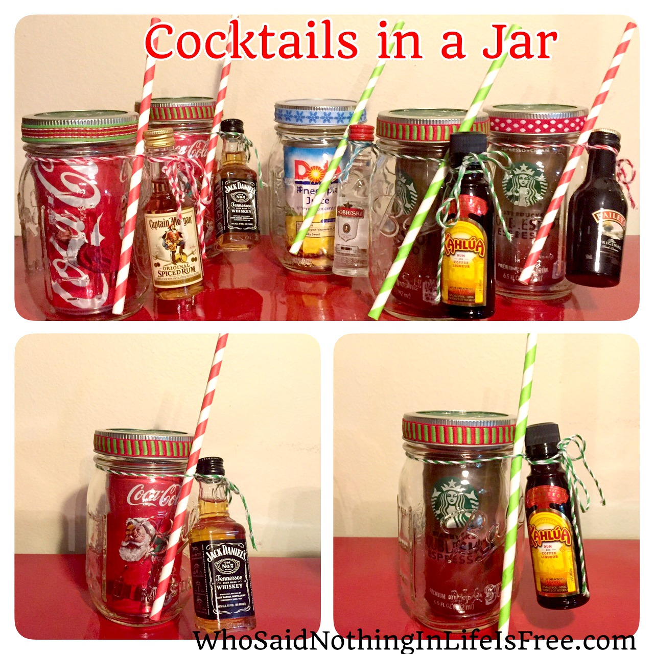 cocktails in a jar