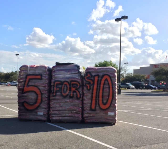 Good Deal On Red Mulch Bags At Home Depot Who Said Nothing