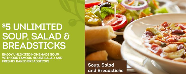 Olive Garden Coupon 5 Unlimited Soup Salad And Breadsticks Who Said Nothing In Life Is Free