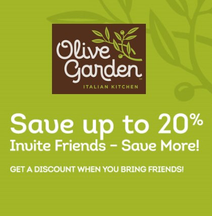 Olive Garden Coupon Up To 20 Off Who Said Nothing In Life Is Free