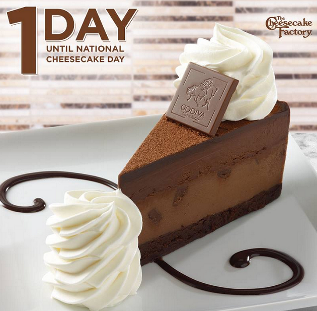 Half Price Cheesecake at Cheesecake Factory on 7/29 and 7/30 - Who ...