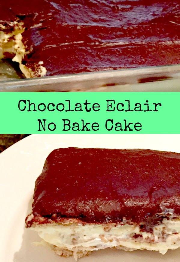 No Bake Chocolate Éclair Cake