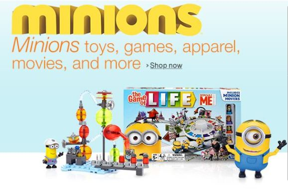 Minion Toys And Games : Amazon lightning deals on minion toys games movies all