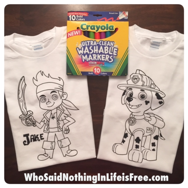 DIY Kids Coloring Tshirts