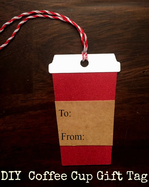 DIY coffee cup gift tag