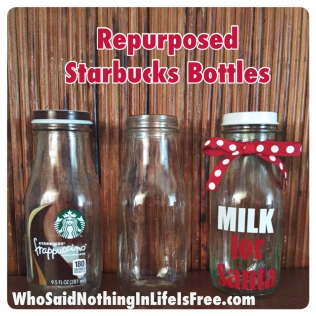 Repurposed Starbucks Bottles