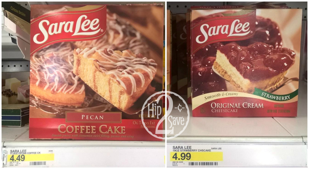 Good Deals On Sara Lee Coffee Cake And Cheesecake At